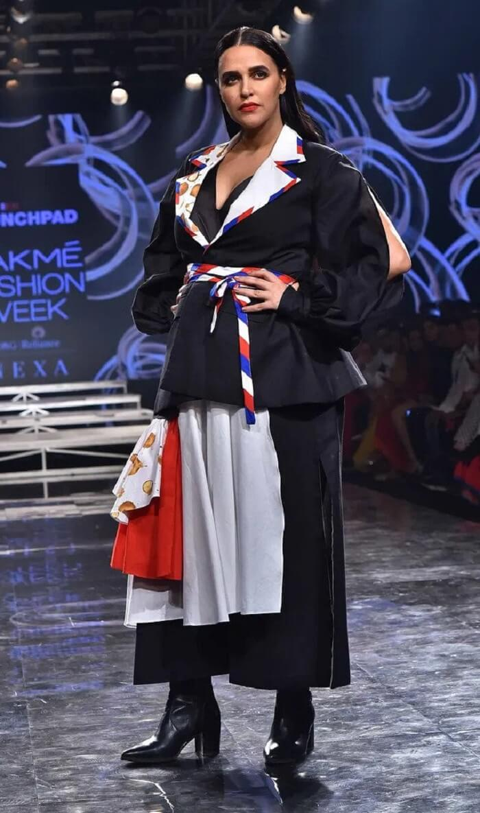 Reliance_Trends_Lakme_Fashion_Week_2020_Summer_Resort_neha_dhupia_Showstopper